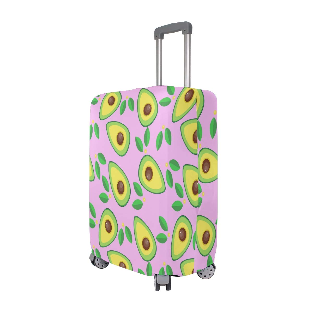 VIKKO Cartoon Avocado Travel Luggage Cover Suitcase Cover Protector Travel Case Bag Protector Elastic Luggage Case Cover Fits 29-32 Inch Luggage for Kids Men Women Travel