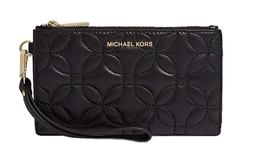 da207776318c MICHAEL Michael Kors Women's Leather Quilted Smartphone Wristlet One Size  Black: Amazon.co.uk: Shoes & Bags