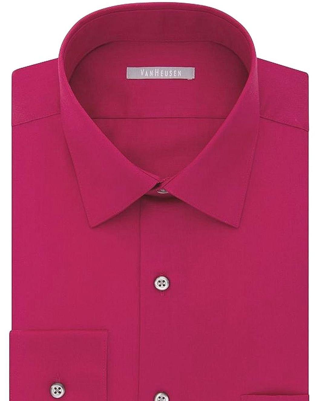 Van Heusen Mens Athletic Fit Long Sleeve Lux Sateen Dress Shirt At