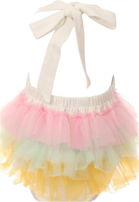 Onesie Unicorn Rainbow Layer Snap up Romper for Baby