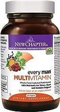 New Chapter Every Man, Men's Multivitamin Fermented with Probiotics + Selenium + B Vitamins + Vitamin D3 + Organic Non-GMO Ingredients - 120 ct