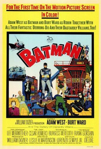 Batman Movie Poster (27 x 40 Inches - 69cm x 102cm) (1966) -(Burt Ward)(Adam West)(Burgess Meredith)(Cesar Romero)(Frank Gorshin)(Lee Meriwether) -