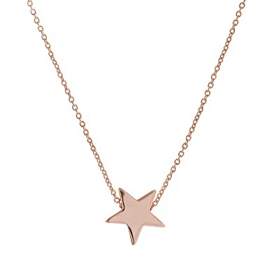 67dd5b362b5f Amazon.com  LUREME Brass with 18K Gold Smooth Five Point Star Pendant with  an 15.7 Inch Link Necklace (01003824-1)  Jewelry