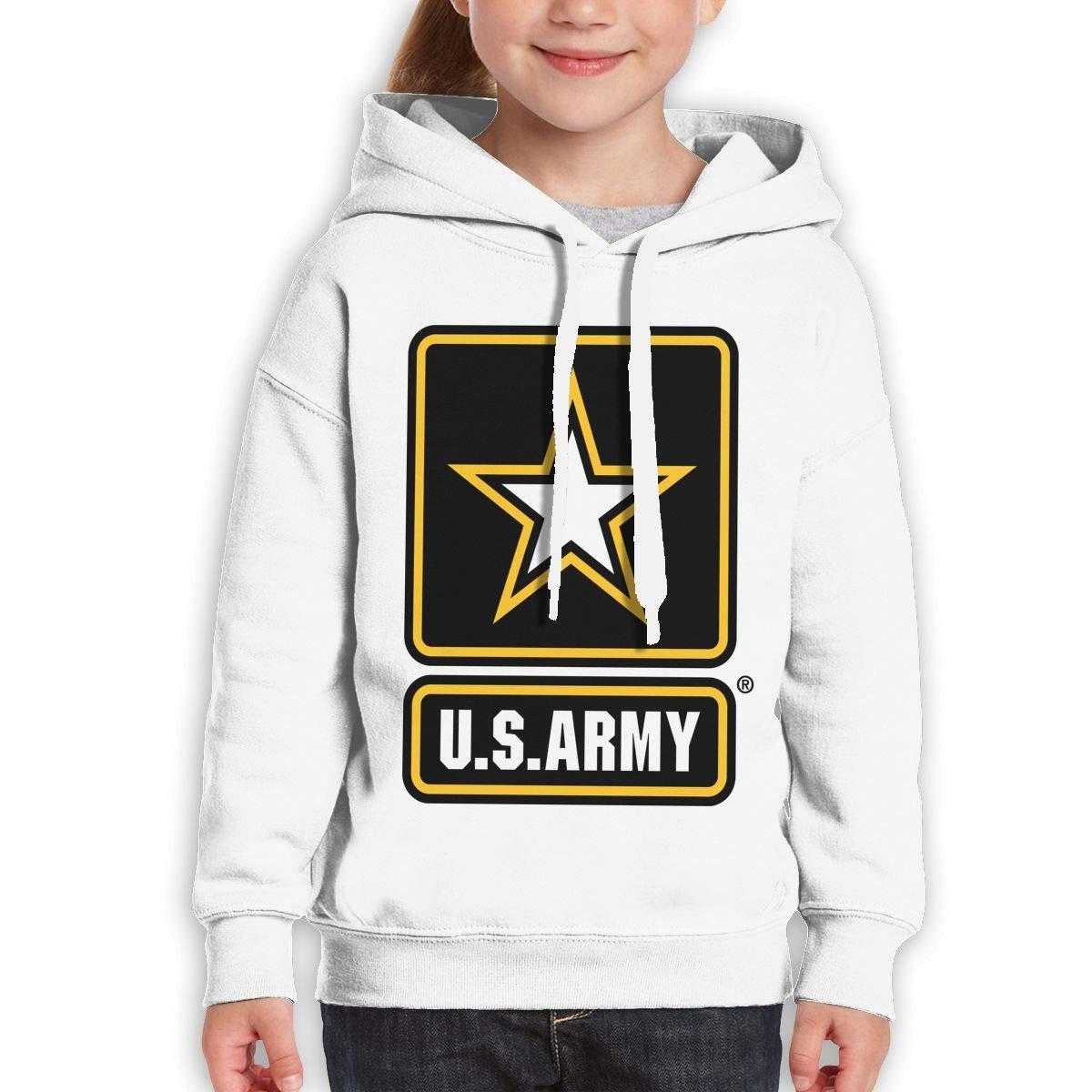 Xxxx Dtjscl Boys Girls Army Star Light Background Teen Youth Hoodie Black