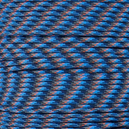 Light Blue Paracord Planet 550 Cord Type III 7 Strand Paracord 100 Foot Hank