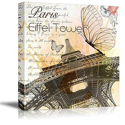 Eiffel Tower in Paris Vintage Style - Canvas Art