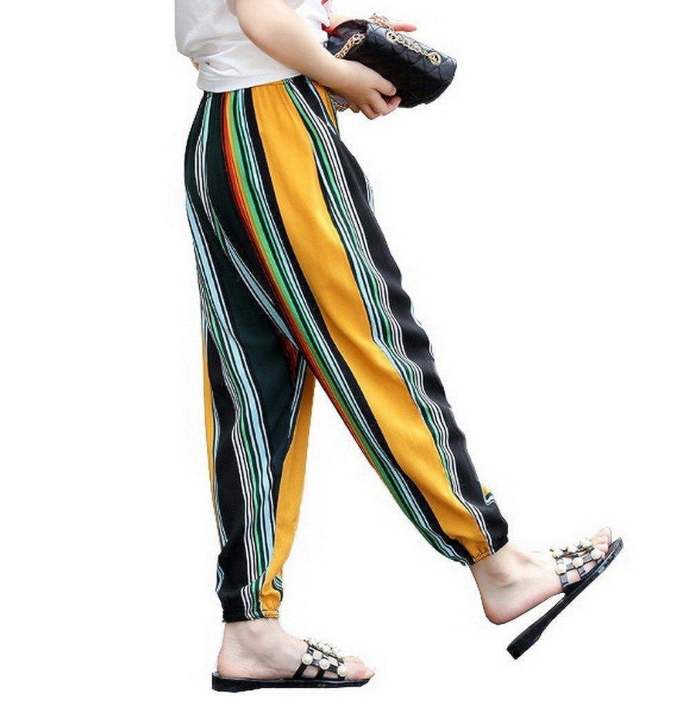 COMVIP Boys Girls Printed Summer Sport Jogger Trouser Loose Harem Pants