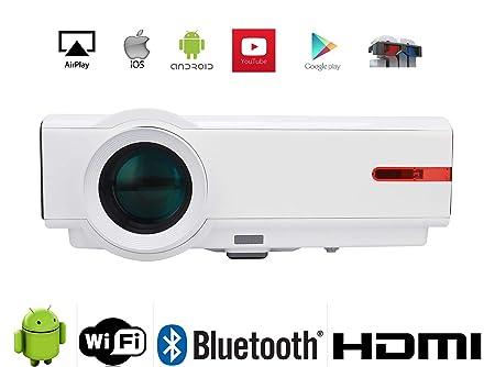 FR 1080P WiFi Proyector Full HD WiFi, s87 a 5000 lúmenes 10000: 1 ...
