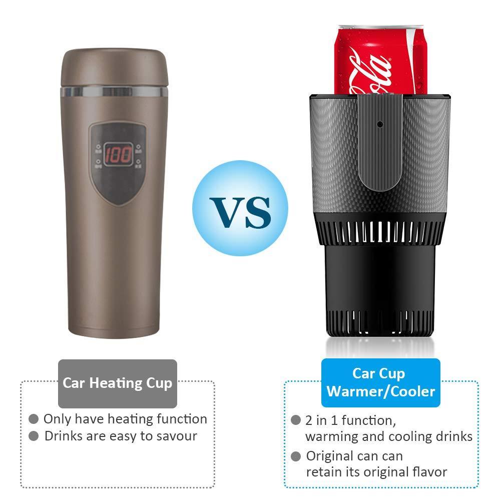 VAlinks Car Cup Warmer & Cooler,Electric Coffee Warmer Beverage Warmer Heating Cup for Road Trip by VALINKS (Image #3)