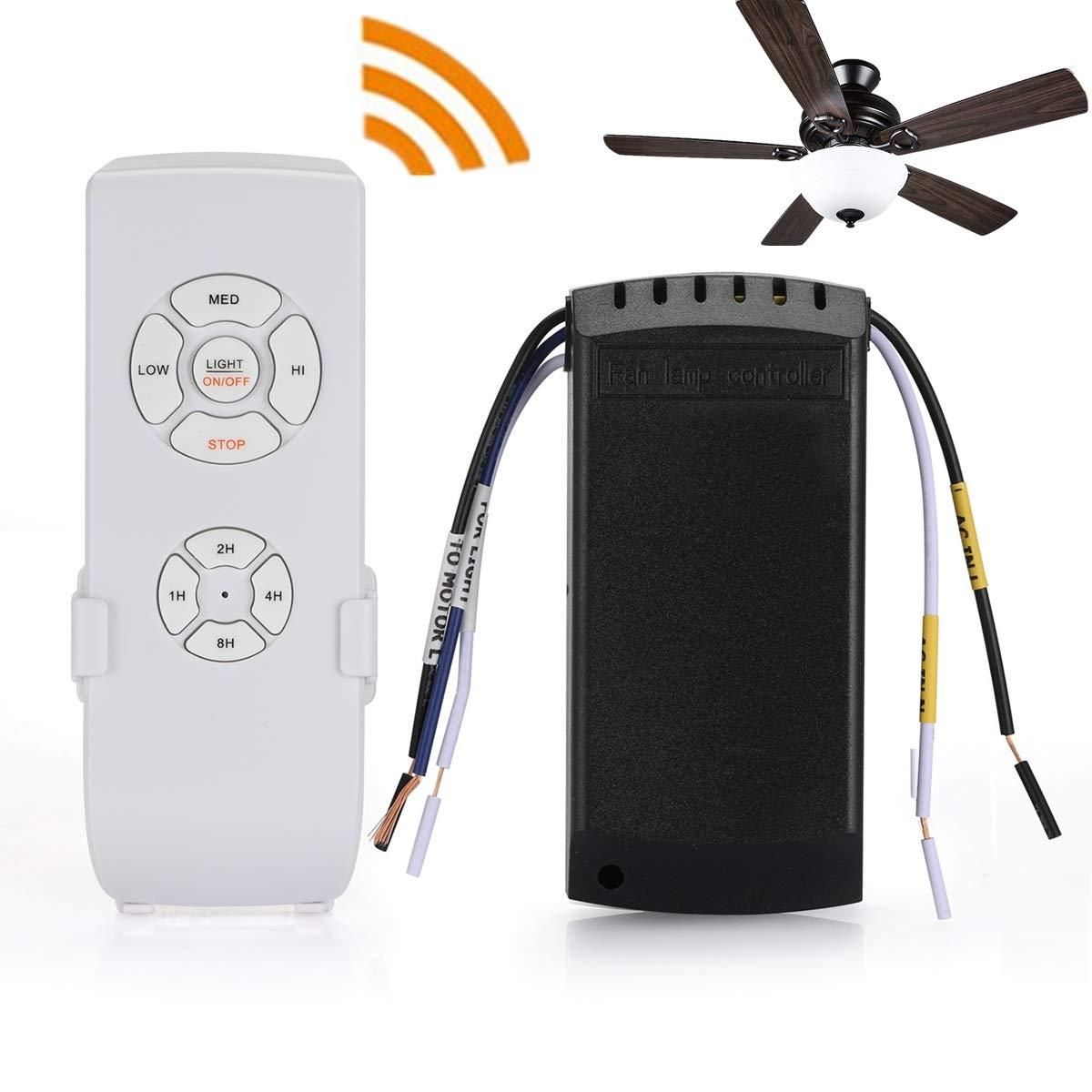 QIACHIP Ceiling Fan Remote Control Kit,WI-FI Smart Universal Ceiling Fan with Amazon Alexa by QIACHIP