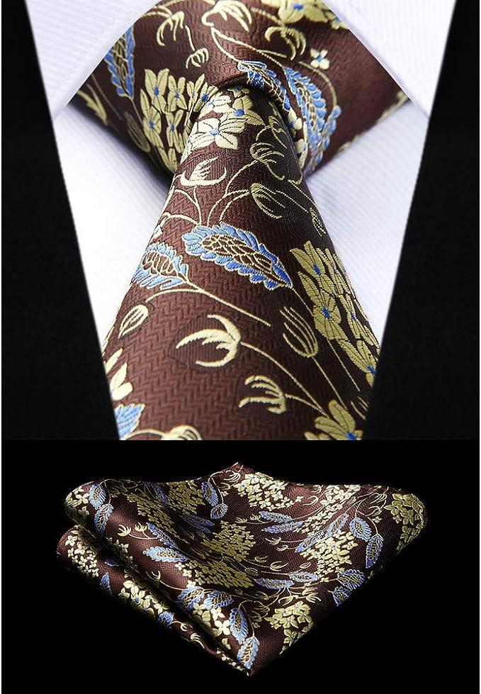 CDBGPZLD Seda Corbata Set Conjunto de pañuelo de corbata de seda ...