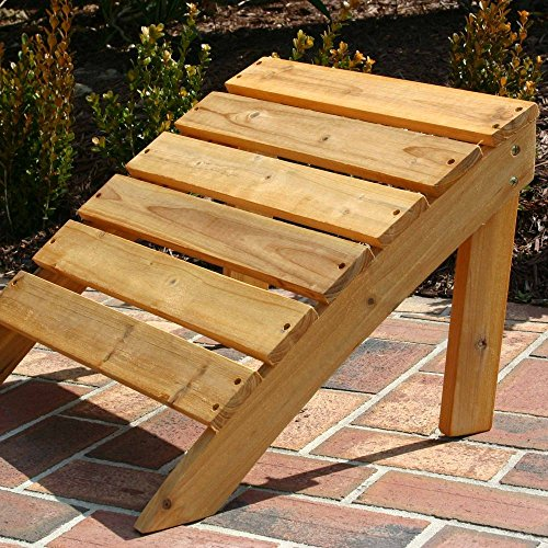 Designed For Outdoors Stained Adirondack Ottoman