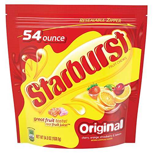 STARBURST Original Fruit Chew Candy 54-Ounce Party Size Bag]()