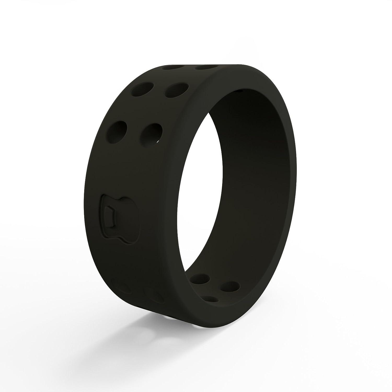 【本物新品保証】 QALO-レディースシリコンリング(品質は、陸上競技 7 Black 7、愛とアウトドア)は7-18のサイズを Ring B076SH7GR6 Black Perforated - Silicone Ring 7 7 Black Perforated - Silicone Ring, 中里村:b61e2a7a --- arianechie.dominiotemporario.com