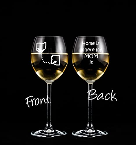 6e57ba8a47e Image Unavailable. Image not available for. Color: Gifts for Moms - Etched Wine  Glass ...