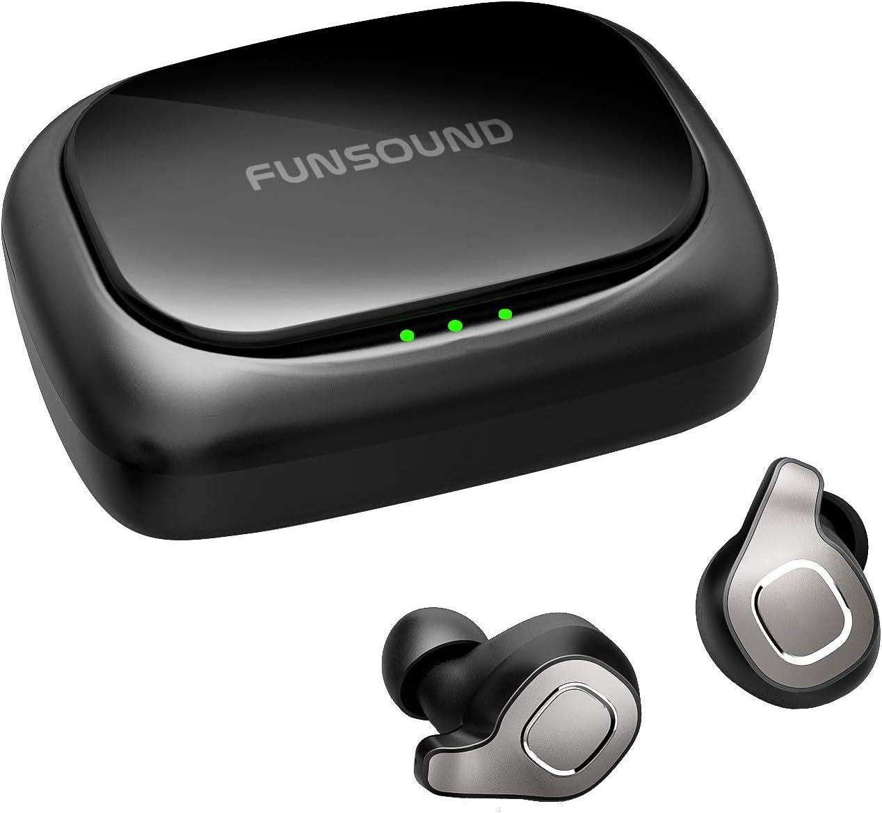 BRYWIN F8 True Wireless Earbuds Waterproof IPX7 Bluetooth Earbuds Wireless Headphones Bluetooth Headphones Noise Cancelling, TWS Wireless Earphones Bluetooth Wireless Headphones for iphone