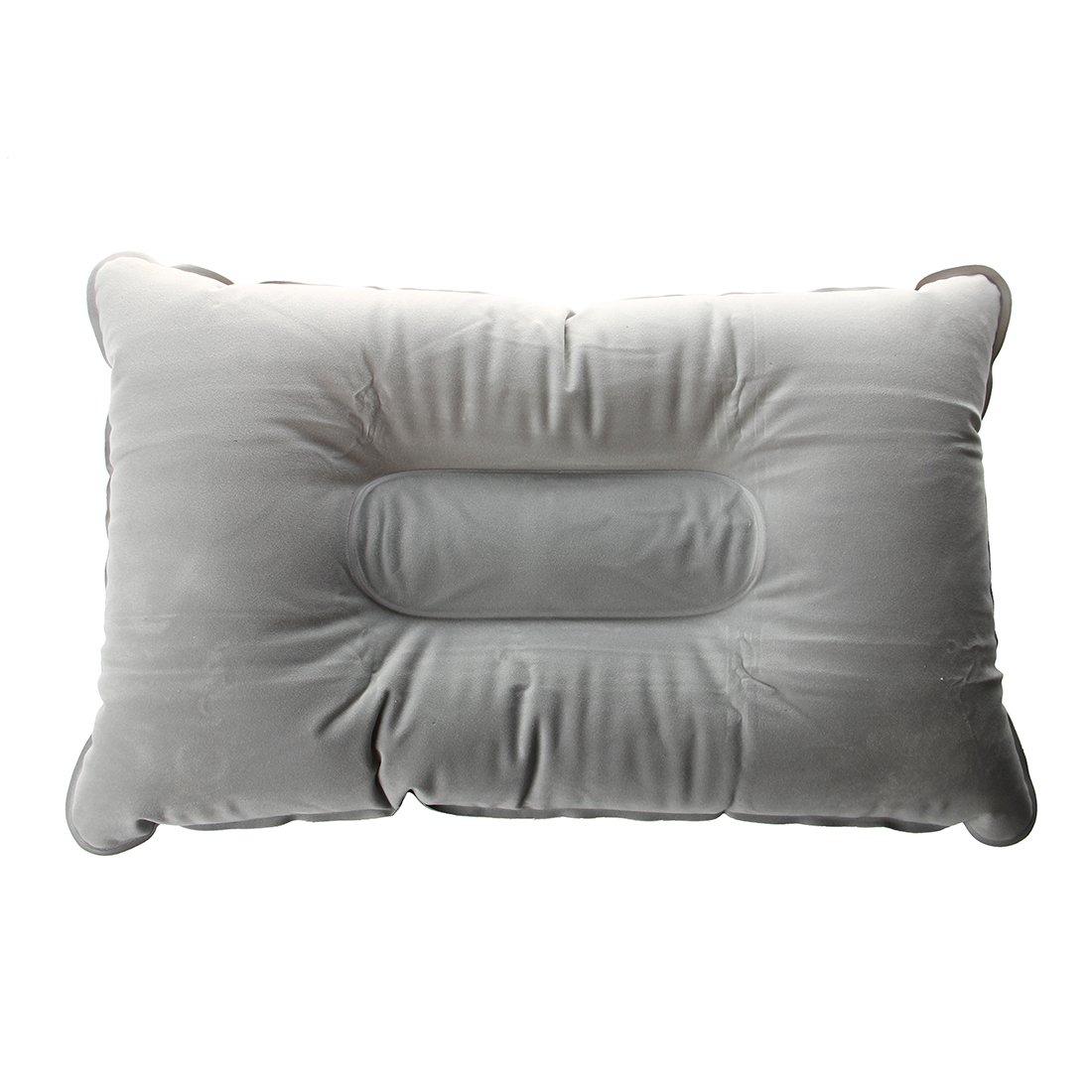 インフレータブル枕 – TOOGOO ( R )インフレータブル枕-- Double Face +インフレータブル枕クッションマットキャンプピクニックグレー40 * 25 cmの B015GV0YMG