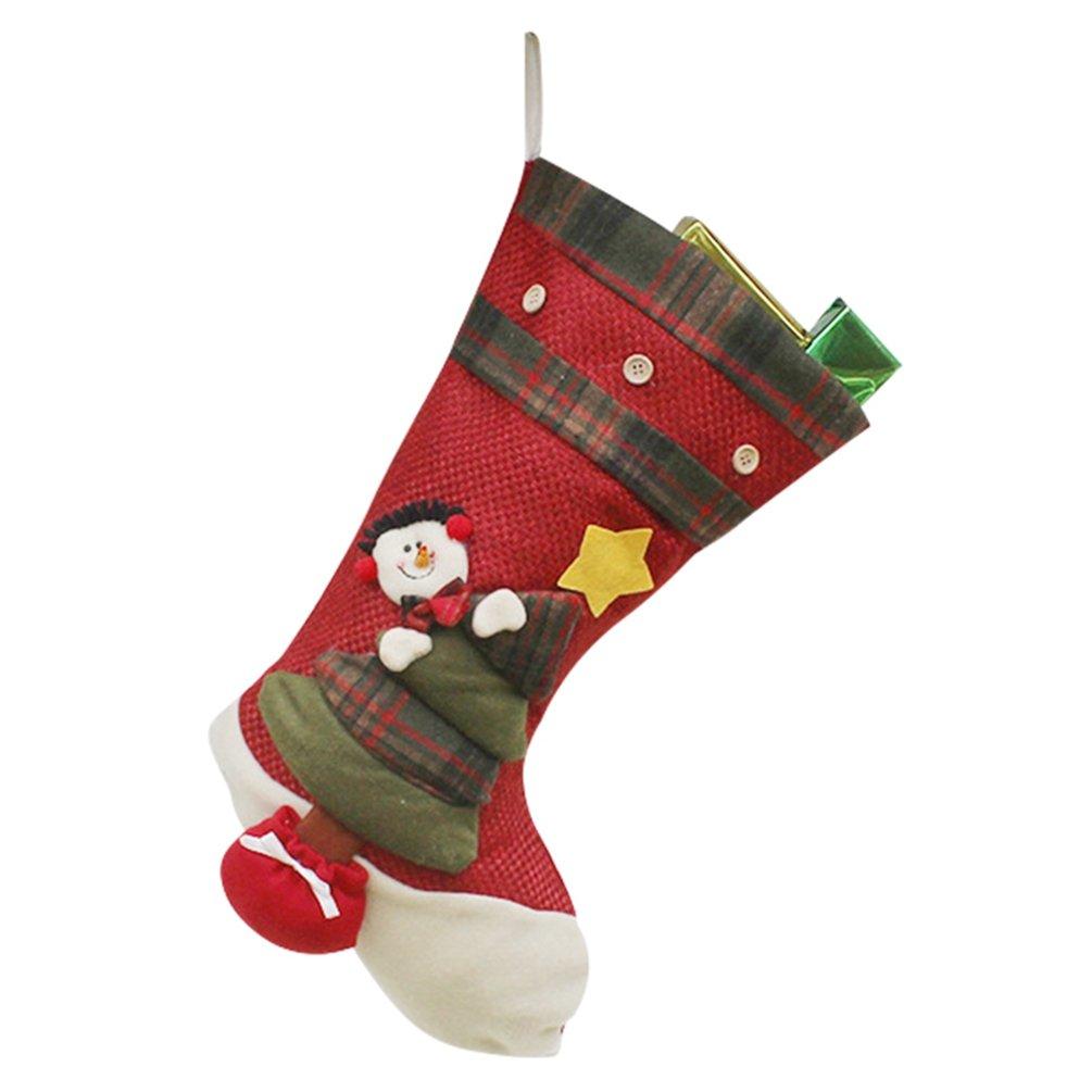 YiLianDa Decoraciones De Navidad Calcetín De Navidad Almacenamiento De Dulces Para Navidad Decoración Calcetin