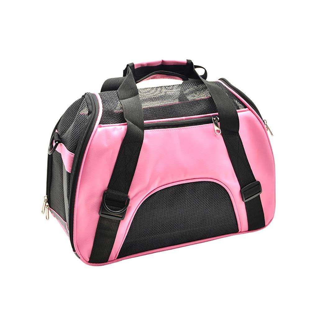 A 523525 A 523525 Pet bag Cat bag Dog bag Pet backpack Pet outing bag Carrying case handbag Travel bag Car bag Breathable Convenient durable (color   A, Size   52  35  25)