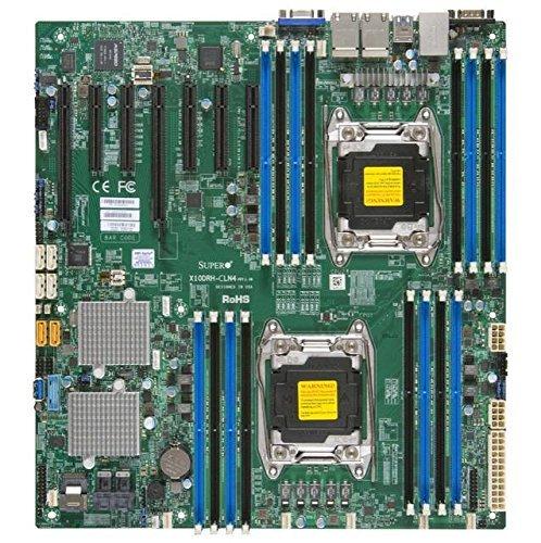 (Supermicro Dual LGA2011, Intel C612, DDR4, SATA3 & SAS3 & USB3.0, V & 4GbE, EATX Motherboard X10DRH-CLN4-O)