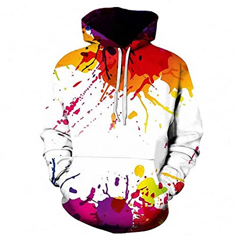 c9901165cf3b Dawery Unisex 3D Printed Hoodies Pullover Hooded Sweatshirt Splashed Paint  3D Hoodies Women Sweatshirts Men Pullover Plus Size Spring Autumn Causual  Fashion ...