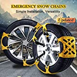 Snow Chains, Anti-skid Emergency Snow Tyre Chains Car Belting Straps, Universal Fit Emergency Anti-Skid Car Cable Tire Mud Snow Chains, Tyre Winter Traction Aid 6PCS