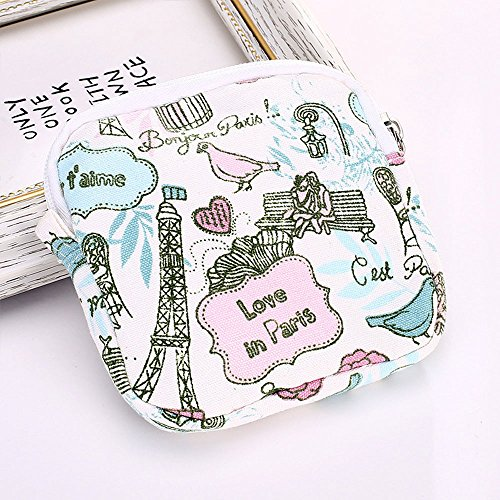Sanitary Pad Holder - Cute Pattern, Convenience, Menstrual Cup, Nursing Pad, Napkin, Towel, Cosmetic, Coins, Money, Jewelry Organizer Small Washable Bags Storage for Women, Ladies and - Card Online Macys