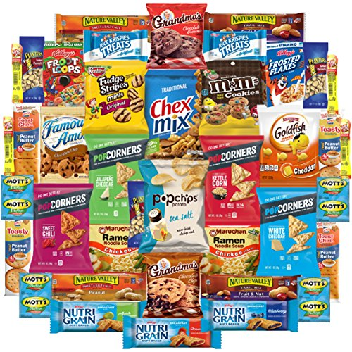 Ultimate Care Package Includes Chips, Cookies, Bars, Nuts & More (40 Count) by Custom Varietea