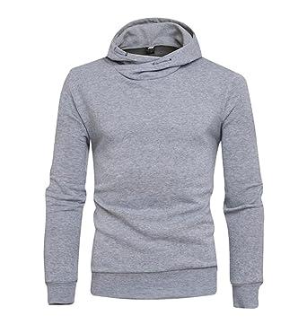 070f80528 Tymhgt Mens Basic Comfort Soft Funnel Neck Long Sleeve Hoodies Sweatshirts  Tops 1 L