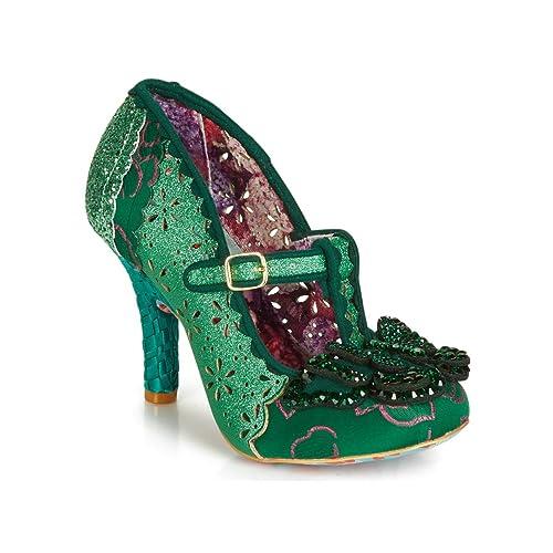 4ae2c712701 Irregular Choice Womens Papillon Green Emerald Butterfly High Heel Shoes