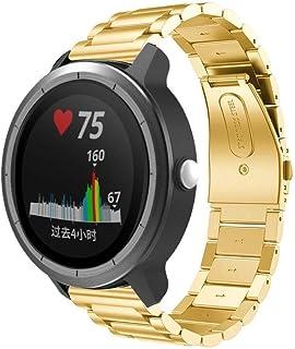 Bainuojia Garmin Vivoactive 3 Bracelet de Montre en Acier Inoxydable avec Fermoir de sécurité pour Samsung SM-R600 Gear Sport, Gear S2 Classic (SM-R732/R735), Garmin Vivoactive 3 20 mm Rose