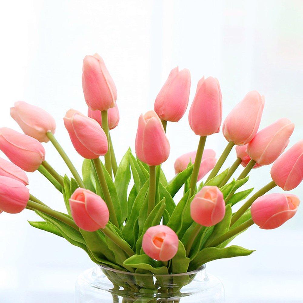 Montout 12pcsset Pu Stunning Holland Tulip Flower Real Touch