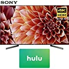 Sony XBR65X900F 65-Inch 4K Ultra HD Smart LED TV (2018 Model) with Hulu $100 Gift Card