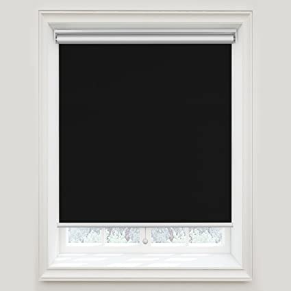 window roller shades white acholo blackout roller shades black blinds windows 31 inch 72 inch cordless window amazoncom