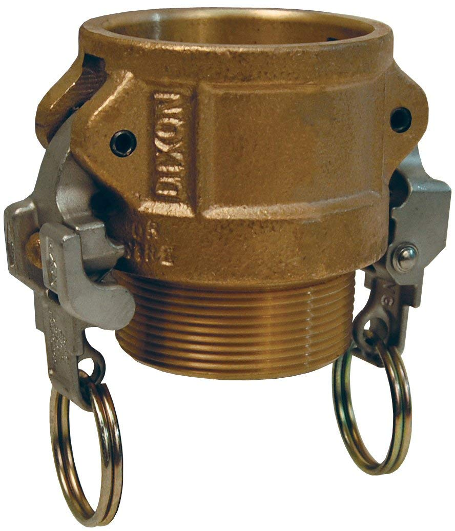 Dixon Valve BB300EZ Brass EZ Boss-Lock Type B Cam and Groove Fitting 3 Socket x 3 NPT Male