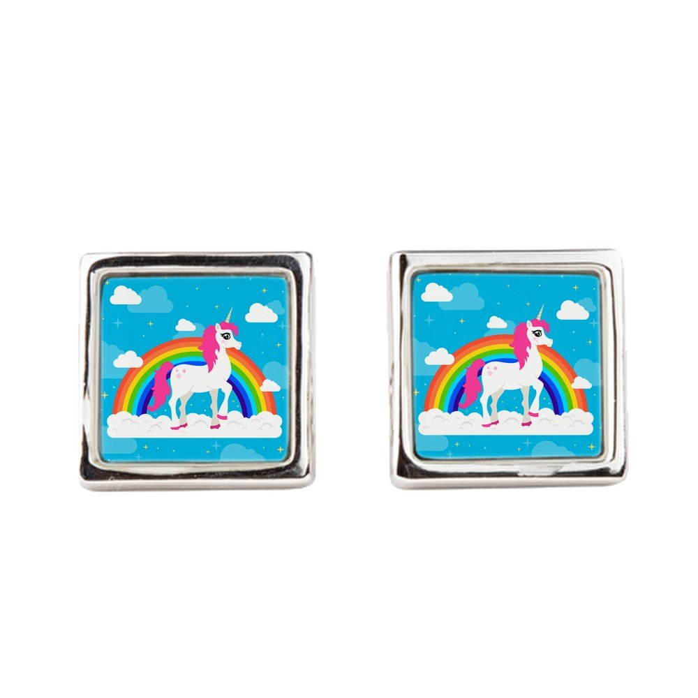 Square Pretty Unicorn Royal Lion Cufflinks