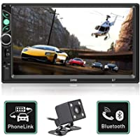 $47 Get Double Din Car Stereo 7 Inch Touch Screen Car MP5 Player Support Backup Rear View Camera FM…