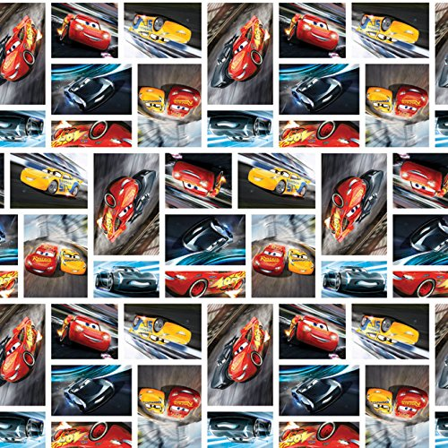 Disney Fabric Disney Cars Fabric See You On the Track by the yard ()