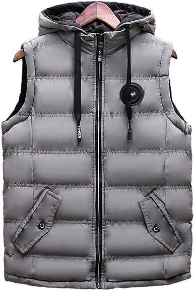 Poches Manteau Homme sans de Sport Blouson Manche Doudoune Zippé Vest Poche Chaud Homme avec Automne Gilets Capuche Froid Eclaire avec Epais Hiver SMpqzGUV