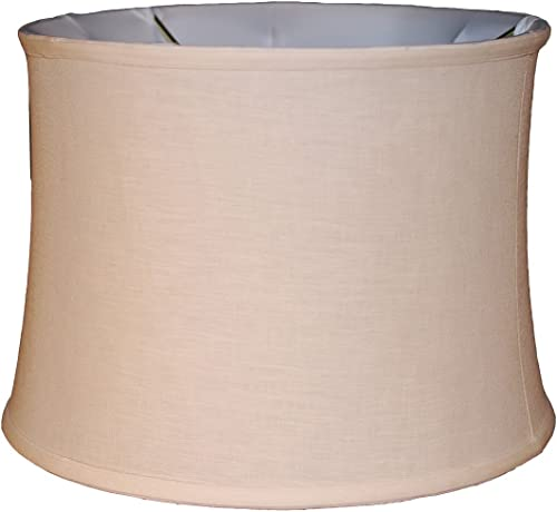 16 cream drum Belgian linen shade