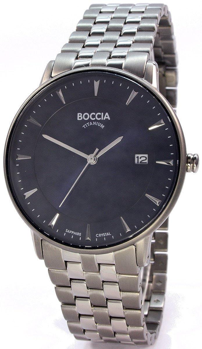 Boccia Reloj Digital para Hombre de Cuarzo con Correa en Titanio 3607-03
