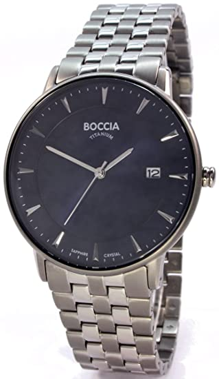 Boccia Reloj Digital para Hombre de Cuarzo con Correa en Titanio 3607-03: Amazon.es: Relojes