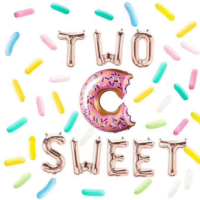 Amazon.com: Dos globos de letras dulces con diseño de donut ...