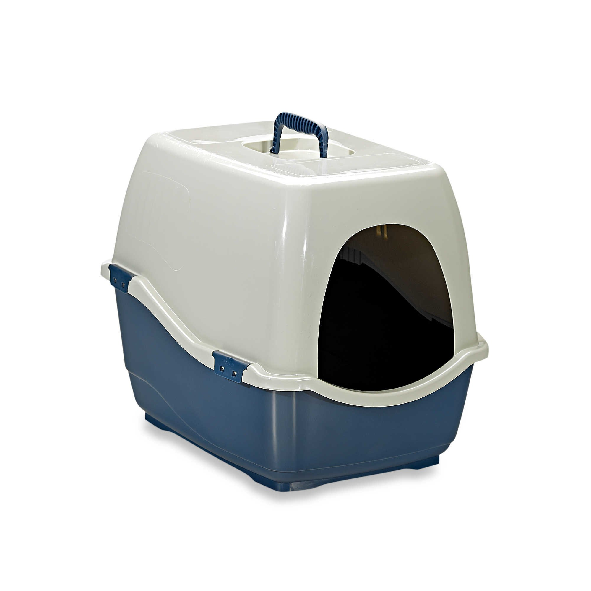 Marchioro Bill Eco Enclosed Large Cat Litter Pan in Blue