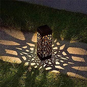 6 unidades de la más nueva lámpara LED exterior luz solar del jardín luz de cobertura de red impermeable lámpara de jardín solar patio patio paisaje lámpara Home Decor: Amazon.es: Iluminación