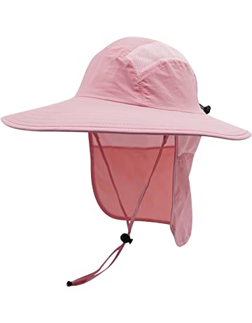 f63b60d9670 Home Prefer Mens UPF 50+ Sun Protection Cap Wide Brim Fishing Hat with Neck  Flap