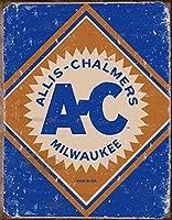 Allis Chalmers Logo Tin Sign  12x16