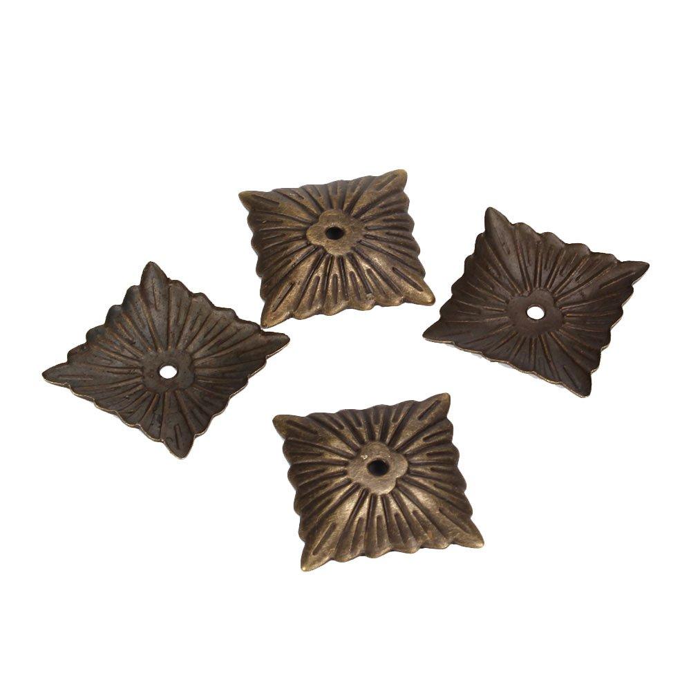 Yibuy 500pcs Iron Bronze Antique Square Upholstery Nails Hardware Tacks Studs by Yibuy (Image #2)