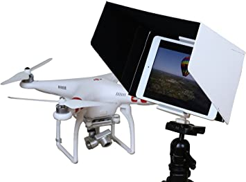 Amazon Com Summitlink 7 Inch Tablet Sun Hood Sun Shade White With Tripod Mount Compatible For All Version Ipad Mini For Dji Phantom 4 3 Professional Advanced Dji Inspire 1 Dji Phantom