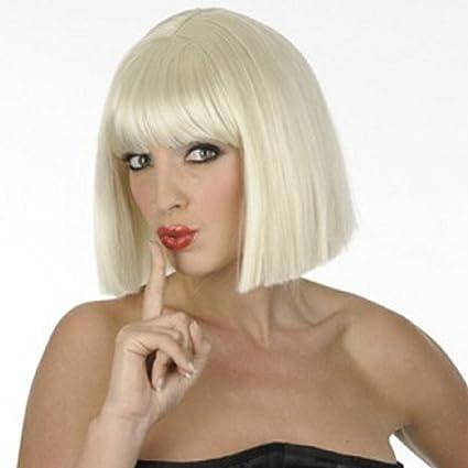 perruque femme carrée (Blonde): Amazon.fr: